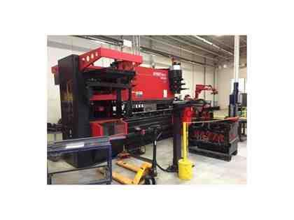 110 TON, AMADA ASTRO II 100NT HDS1030NTR BENDING CELL W/ TOOL CHANGER,MFG:2