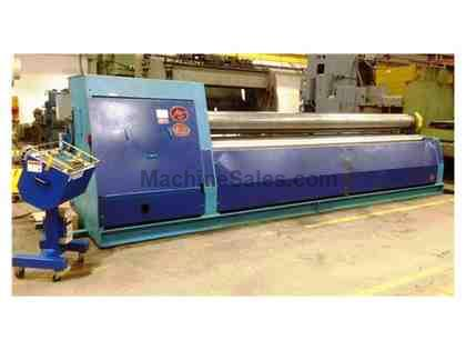 "200"" X 3/8"" MG WH 510C 4-Roll Plate Bending, CN-Win-98 CNC Controls, 2004"