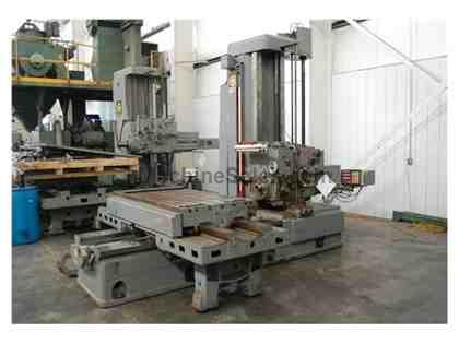 "4"" GIDDINGS & LEWIS TABLE TYPE HORIZONTAL BORING MILL"