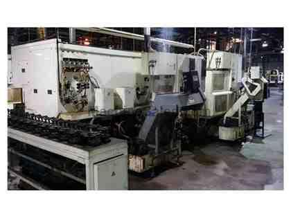 2003 Fuji ANW-30 CNC Twin Spindle Lathe w/ Built in Automation