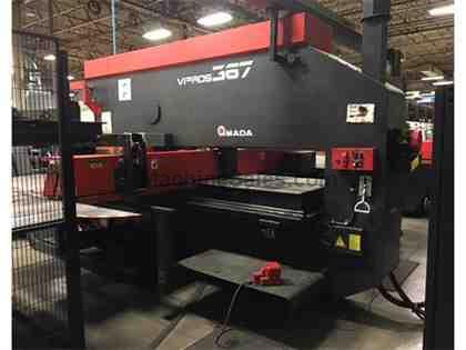 Amada Virpos 367 CNC Turret Punch w/ Tower & Right Angle Shear