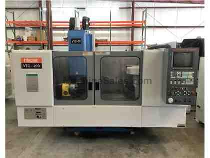 Mazak VTC-20B 4th Axis CNC Vertical Mill, 1998 Used Mazak VTC20B VMC