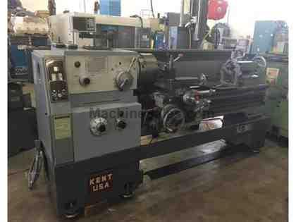 "20/28"" x 60"" Kent Engine Lathe. 2004 w/ 4"" Hole, DROs, IN/MM"