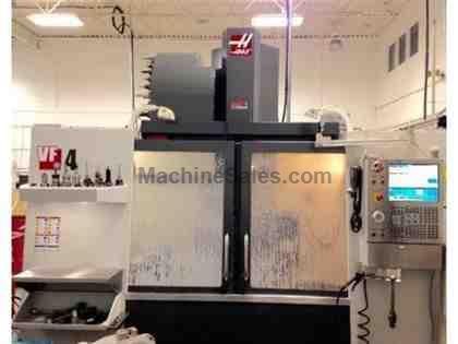 HAAS, VF-4, CNC VERTICAL MACHINING CENTER NEW: 2013