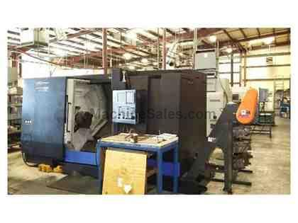 "Hwacheon Hi-Tech 450CL Turning Center (2014) 15"" Chuck, Long Bed, Fanuc Oi-"