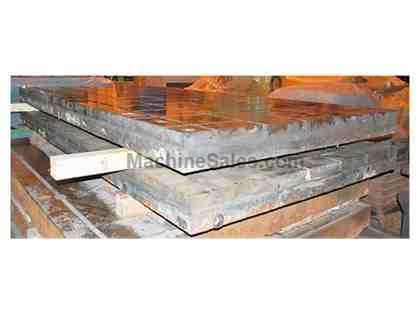 "(2) 72"" x 144"" x 13"" T-Slotted Cast Iron Floor Plates"