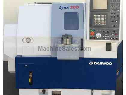 DAEWOO LYNX 200A CNC TURNING CENTER LATHE FANUC