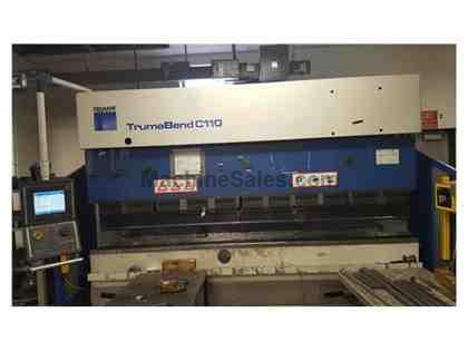 121 Ton Trumpf TrumaBend C110 CNC Press Brake