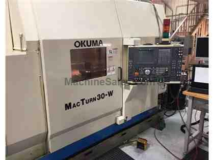 USED OKUMA MACTURN-30W CNC TURNING CENTER
