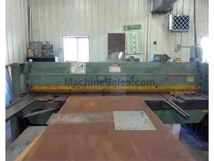 "Wysong Model 1010 Mech. Shear, 10' x 3/16"" Mild Steel, FOHBG"