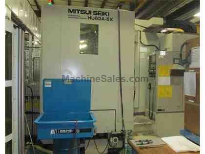 5 Axis Trunion  Mitsui Seiki Machining Cell with 2 HU63A-5X