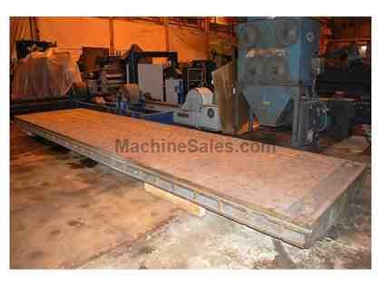 (2) T-Slotted Planer Table Floor Plates