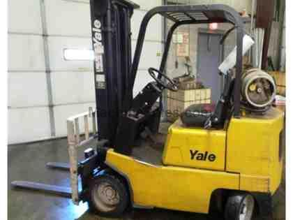 YALE LP 3500-4000 MAX LBS FORKLIFT TRUCK, SOLID TIRES,