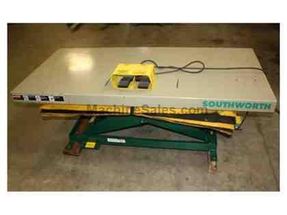 "Southworth,2000 Lb. Cap.,32"" x 72""Tbl.,Lowered 6-3/4"",Raised Height 42-3/4"",2011"