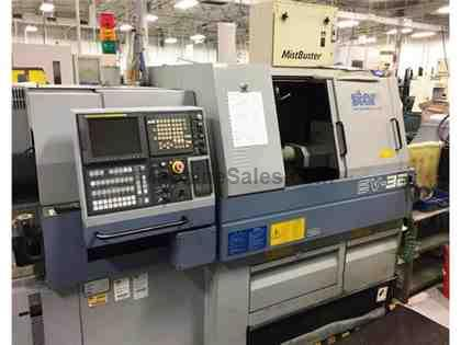 Star SV32 Swiss Type CNC Lathe with Fanuc 16i Control and LNS Barfeed