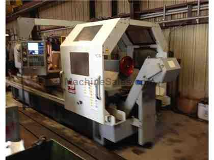 "35""x80""cc Haas CNC Flat Bed, Hollow Spindle Lathe"
