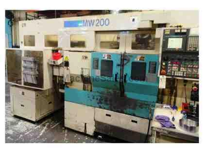 1999 MURATA  MW-200-GMC TWIN SPINDLE LIVE TOOL TURRETS WITH GANTRY LOADER