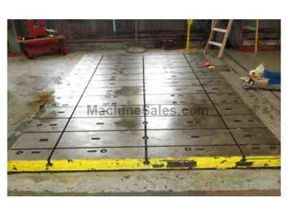 "FLOOR PLATES THREE (3) 66"" x 119"" x 5"" THICK T-SLOTTED FLOOR"