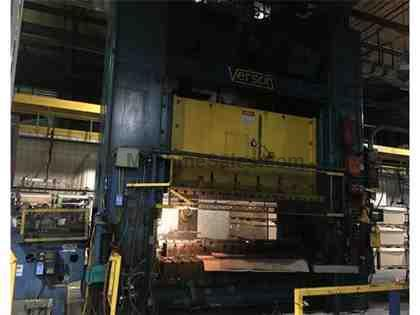 Verson 600 Ton Straight Side Double Crank Mechanical Press
