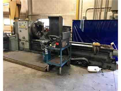 "2002 Lansing hollow spindle lathe, 20""+ hole, DRO, Dbl chks, QC, Taper"