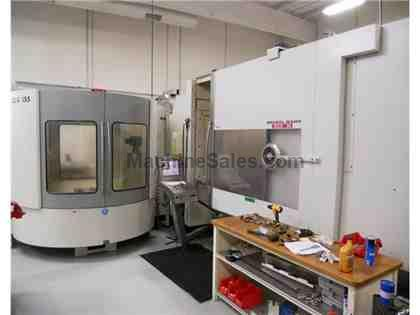 DMG model 25-U: 5 axis (B & G) Horizontal machining center with Schulle