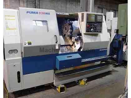 2001 Daewoo Puma 230MSB CNC Turning Center W/ Live Tooling and Sub Spindle
