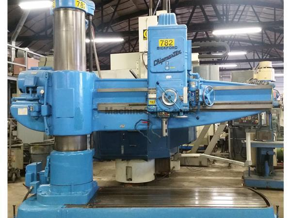 "GIDDING and LEWIS 8' ARM x 19"" COLUMN RADIAL DRILL"