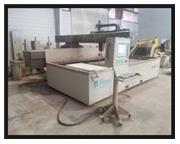 13' x 6.5' Flow Mach 2 Waterjet,Flow PC cntrl,30HP 60KPSI intensifier,Pgm Z