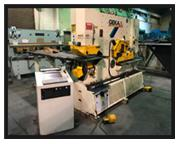 "Geka 165SD Semi Paxy Hyd Ironworker, 20""x80"" CNC punch table, 8""8&quot"