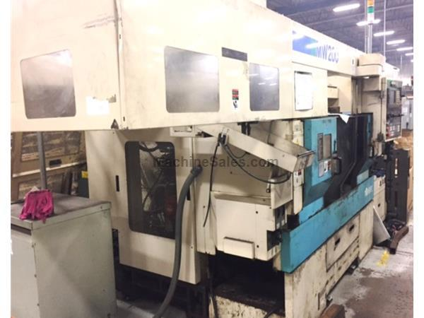 2002 MURATA MW-200-GS TWIN SPINDLE CNC GANTRY LOADER TURNING CENTER