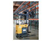 3500 lb. Caterpillar # NRR35 , electric reach forklift, 3-stage mast, side shift, reach at