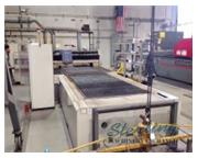 Mitsubishi # 2512-LXP , 2000 watts, 32 Bit CNC, 2-tables, dust collector, used, #CD5100