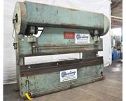 135 Ton, Chicago # 410-D , mechanical clutch press brake, power ram adjustment w/indicator