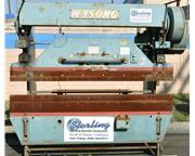 """35 Ton, Wysong & Miles # 3596 , brake press, 8' OA, FOMBG w/ind, 62"""" BH, #9307"""