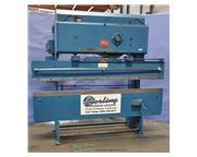 25 Ton, Chicago # 285 , mech.press brake, 8' OA, FOMBG w/indicator, manual ram adjust, one