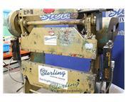25 Ton, Chicago # 335 , mechanical, 6' OA, light curtain, foot pedal, #A4219