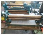 2' x 20 ga. Enco # 130-4501 , 3-wire groves, manual slip roll, #A4850