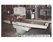 30 Ton, Whitney # 635A , single end fabricating punch, #7260
