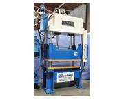 60 Ton, Savage # 60HTP , 4-post hydraulic blanking trim press, light curtains, PLC, '92, #
