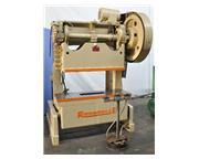 """60 Ton, Rousselle # 6B-60 , gap frame OBI press, 3"""", A/C & brake, remote dual palm co"""