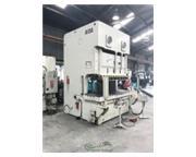 """220 Ton, Aida # NC2-200(2) , 9"""" stroke, mechanical two point C-frame press, air clutc"""