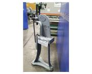 3 Ton, Greenerd #3, lever type arbor press, stand, table plate, punch slug receptor, used,