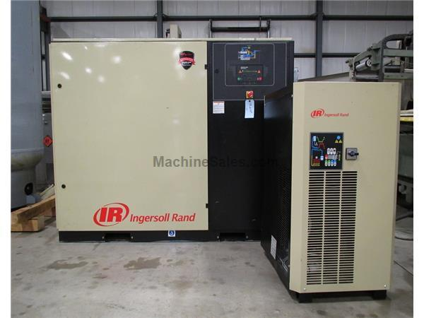 2013 INGERSOLL RAND UP6-40-125 ROTARY SCREW AIR COMPRESSOR & AIR DRYER