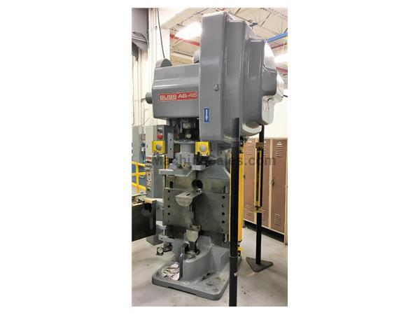 3062, Bliss, AB-45 - 45Ton, Horn Type Punch Press, 1998