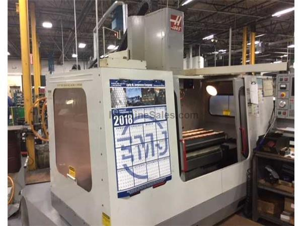 "2000 HAAS MODEL VF-3 VERTICAL MACHINING CENTER WITH APC, 40"" x 20&quot"
