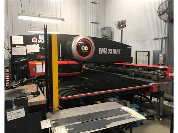 "AMADA-EMZ-3510NT,ELECTRIC,45-STNS,4-AUTO-INDEX,50""Y,98.425""Z,FANU"