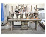 """15"""" ROCKWELL DELTA 6 SPINDLE DRILL"""