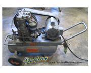 8 cfm, Hill Brothers # AP221 , portable air compressor, 2 HP, wheels, #6086