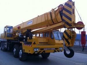 mounted crane close up