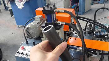 Semi automatic pipe tube chamfering bevelling deburring machine